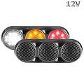LED Combi lamp 12v  heldere zwarte behuizing gekleurde lens