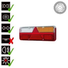 LED trailerlamp  dynamisch knipperlicht  9-36v  7 pins amp connector