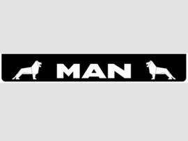 Spatlap achterbumper zwart MAN in wit