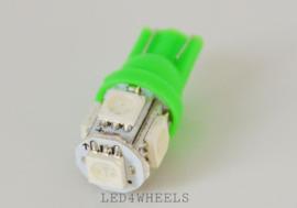 LED t10 w5w groen