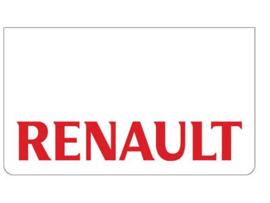 Spatlap voorbumper wit + Renault rood