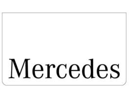 Spatlap voorbumper wit + Mercedes zwart