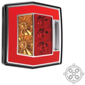 LED compact achterlicht met kentekenverl. 12v/36v 5 pin