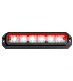 Led flitsers rood/wit 12/24 volt