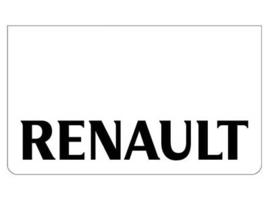 Spatlap voorbumper wit + Renault zwart