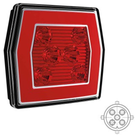 LED MISTLICHT MET ACHTERLICHT 12/36V 5 pin