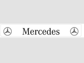 Spatlap achterbumper wit Mercedes met zwarte opdruk