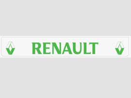 Spatlap achterbumper wit Renault in groen