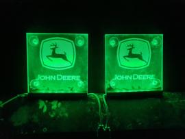 2x Lichtbakjes JOHN DEERE 15x15
