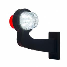 LED PENDELLAMP RECHTS, HAAKSE STEEL & HELDERE LENS,DEENS MODEL 12/24V