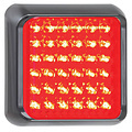 LED rem/achterlicht met zwarte rand 12-24v 10x10cm