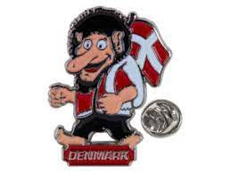 Troll Danmark-pin