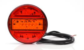 Achterlicht led rond zeer plat 12/24 volt