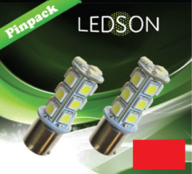 LED-LAMP RED P21W 18SMD BA15S