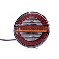 LED achterlicht, met dynamisch knipperlicht 12-24v 100cm. kabel