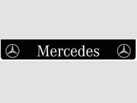 Spatlap achterbumper zwart Mercedes met witte opdruk