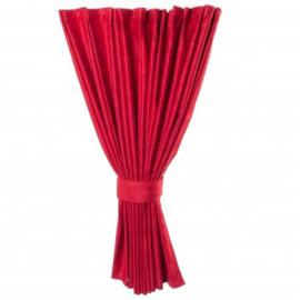 Zijgordijn 90 cm rood