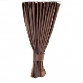 Zijgordijn 90 cm bruin