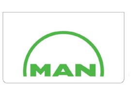 Spatlap voorbumper wit + MAN groen