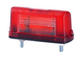 kenteken verlichting rood halogeen