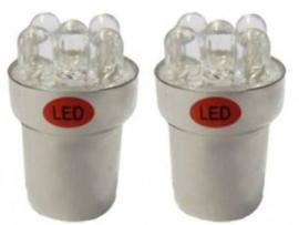 BA15s 5 W 5-LED's 24 V (2 stuks)ROOD