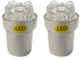 BA15s 5 W 5-LED's 24 V (2 stuks)ORANJE