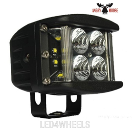 Led werklamp 40 watt 12/24 volt DOUBLE 5 2'' wide flood - SideShooter