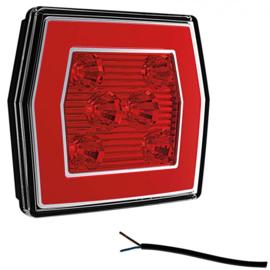 LED MISTLICHT MET ACHTERLICHT 12/36V 1M. KABEL