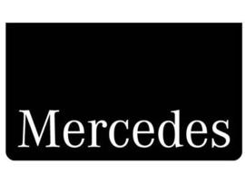 Spatlap voorbumper zwart + Mercedes wit