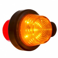 LED PENDELLAMP, KORTE STEEL & HELDERE LENS, DEENS MODEL 12/24V