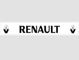 Spatlap achterbumper wit Renault in zwart