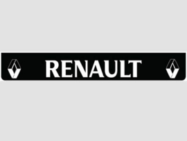 Spatlap achterbumper zwart Renault in wit