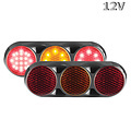 LED Combi lamp 12v  kleur zwarte behuizing gekleurde lens