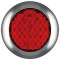 LED rem/achterlicht met chromen rand 12-24v