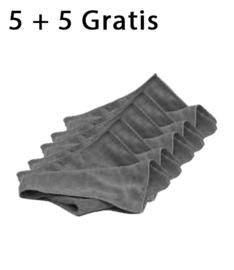 Microvezeldoek Grijs 5+5 GRATIS