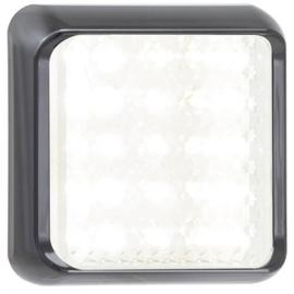 LED achteruitrijlicht met zwarte rand 12-24v 10x10cm