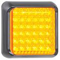 LED knipperlicht met zwarte rand 12-24v 10x10cm