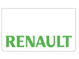 Spatlap voorbumper wit + Renault groen