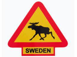 Verkeersbord Eland/Sweden