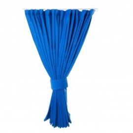 Zijgordijn 90 cm blauw