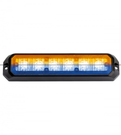 Led flitsers oranje /blauw 12/24 volt