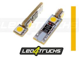 ORANJE - 4xSMD LED 24V - W3W / W5W PER SET