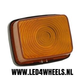 Markerings lamp 12/24 volt vierkant oranje