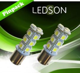 LED-LAMP XENON LOOK P21W 18SMD BA15S