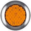 LED knipperlicht met chromen rand 12-24v