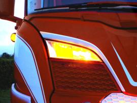 Positie licht voor mistlicht grill Scania