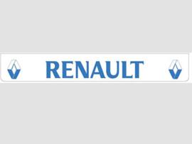 Spatlap achterbumper wit Renault in blauw