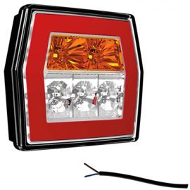 LED compact achterlicht zonder kentekenverl. 12v/36v 1m kabel