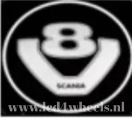 Projector lights Scania v8 logo