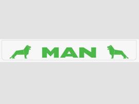 Spatlap achterbumper wit MAN in groen